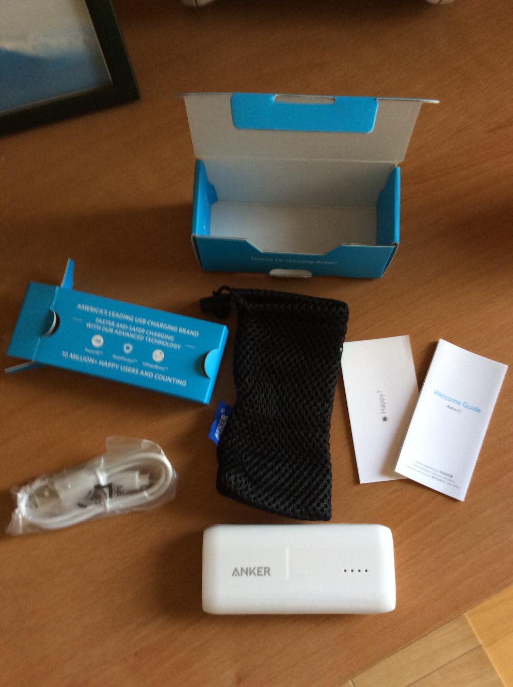 AnkerR Astro E1同梱物
