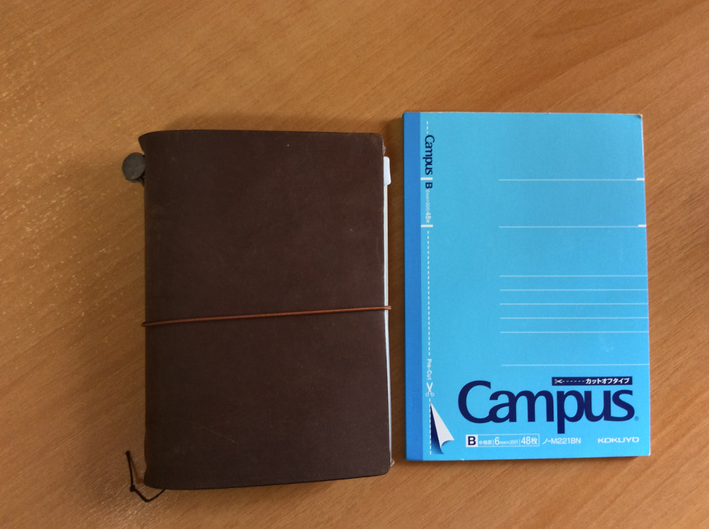 A6サイズのノート大きさ比較