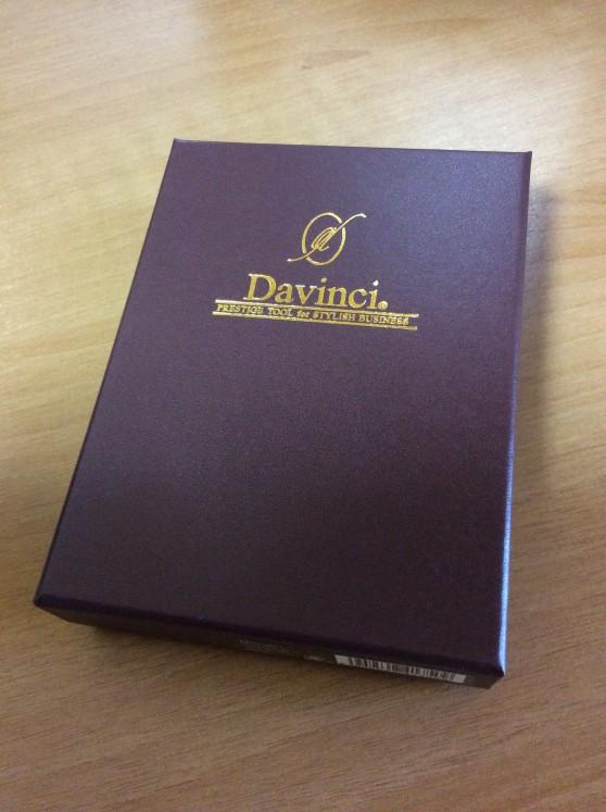 ダヴィンチアースレザー ポケットサイズシステム手帳の化粧箱