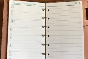 ダヴィンチシステム手帳 アースレザー ポケットサイズ週間スケジュール