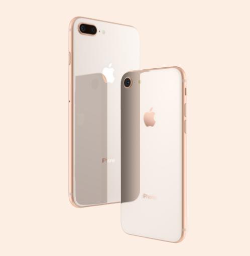 iPhone8とiPhone8 Plusの背面