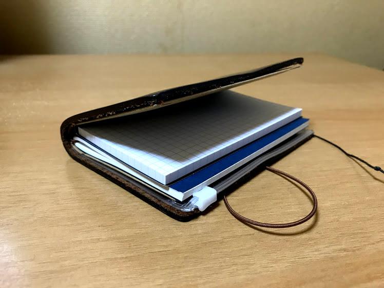 トラベラーズノートパスポートサイズとふせんモバイルメモ