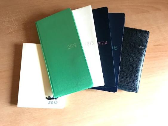 2012年から2017年に使った手帳