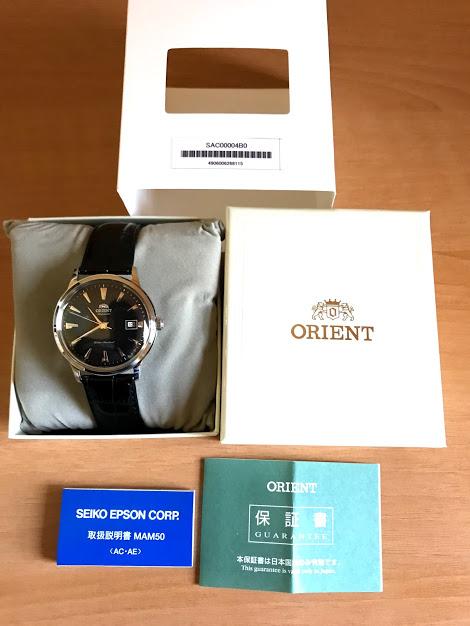 ORIENT Bambino(バンビーノ)SAC00004B0 説明書・保証書・箱 一式