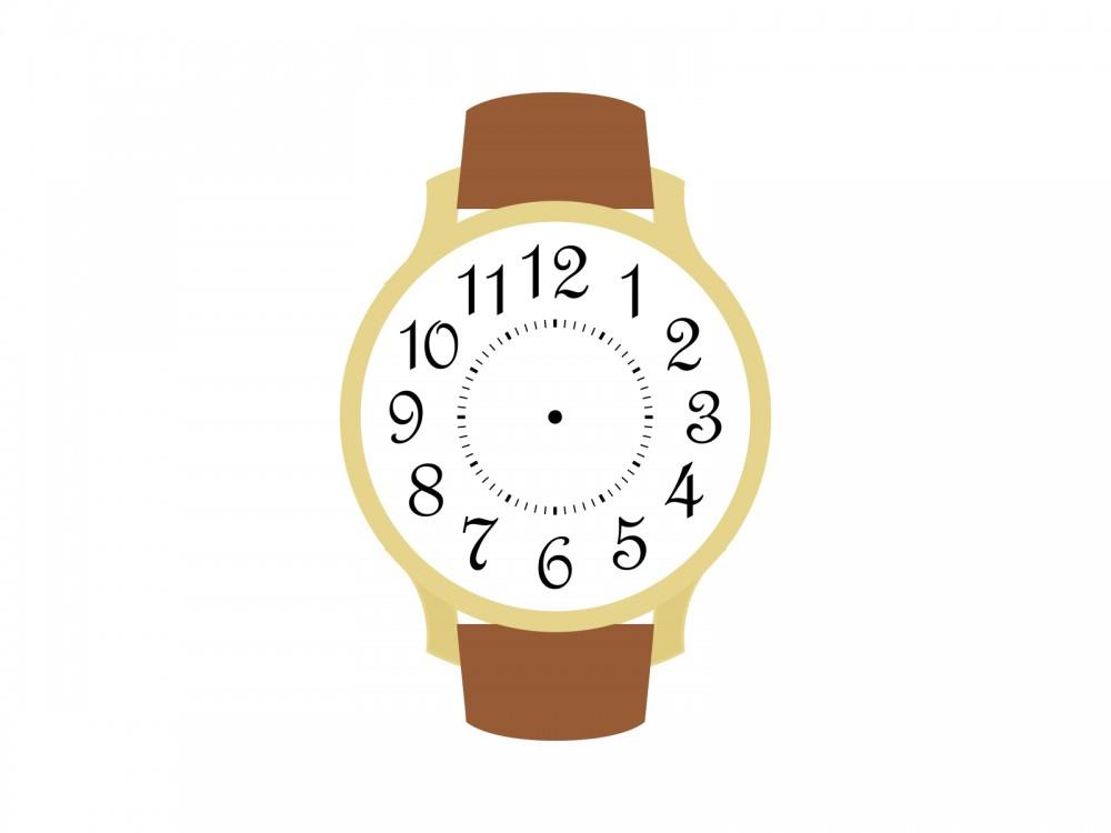 アラビア数字インデックスの腕時計