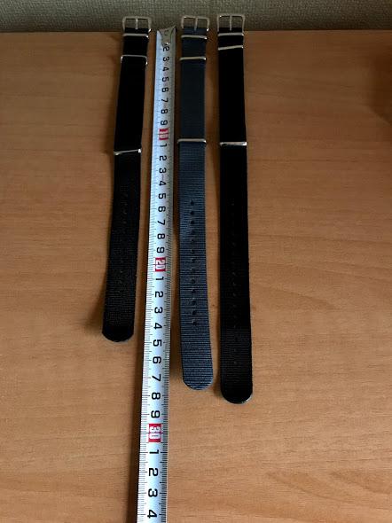 左からショートバージョン、定規を挟んで、普通バージョン、G10LM標準品の順番