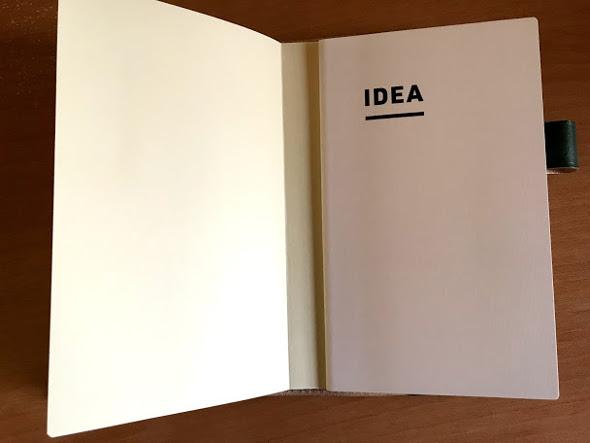「DIARY」の後ろの「IDEA」